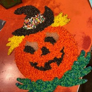 Vintage pumpkin Halloween decoration